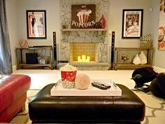 Movie Theater Themed Basement Installed By Seaside Interiors Today On The Blog Abritofhappiness