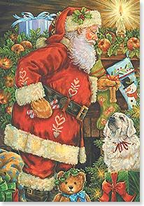 Christmas Card - When Santa comes to visit you... | Donna Race | 73849 | Leanin' Tree