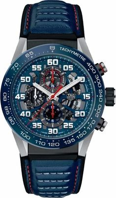 Discover the TAG Heuer Carrera Calibre Automatic Chronograph 45 mm . Sport Watches, Cool Watches, Watches For Men, Wrist Watches, Tag Heuer Carrera Calibre, Red Bull, Popular Watches, Latest Watches, Swiss Army Watches