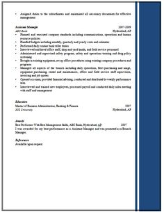 excellent resume sample for managers 2find more at www