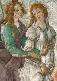 Venus and the Three Graces Presenting Gifts to a Young Woman (detail) - Sandro Botticelli (1445-1510)