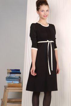 Elodie Kleid schwarz-creme