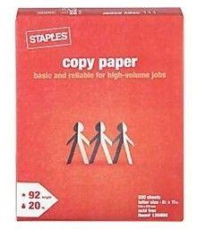 FREE Printer Paper Ream at Staples! Exp. 6/1/13