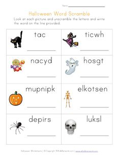 halloween word scramble - Halloween Vocab Words