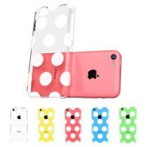 iPhone 5C Case, ESR® the Beat Series Hard Clear Back Cover Snap on Case for iPhone 5C (Polka Dots)