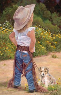 Little Cowgirl #childhood #art #kids http://www.keypcreative.com/