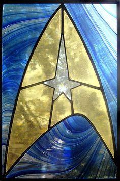 Starfleet insignia - glass