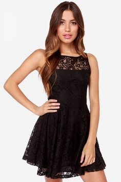 Small black lace dress