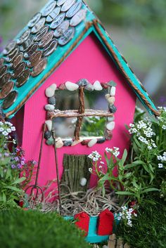 "Pink Fairy House with DIY tips from ""There are Fairies Living in the Garden"""