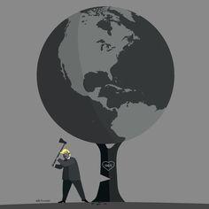 Trump and Paris by roweig.deviantart.com on @DeviantArt acordo de paris, donald trump, ecologia, ecology, environment, estados unidos acordo de paris, ilustracao, ilustracao editorial, ilustracao sobre politica, meio ambiente, paris agreement, politica, united states of america