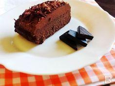 Tarta de chocolate con dos texturas