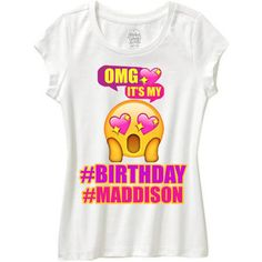 OMG EMOJI Omg Its My Birthday Shirt Emoji