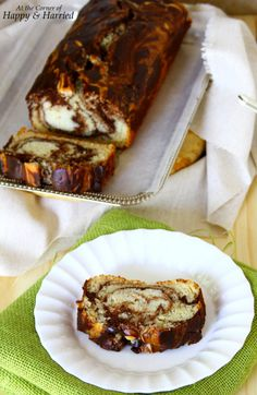 Vanilla & Chocolate Marble Loaf Cake (Eggless and Made with Yogurt)