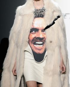 """""""Here's Johnny"""" haute couture"""