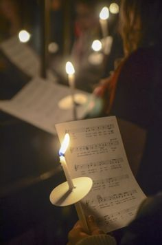 Candlelight Evening Prayer. One of my favorite Christmas things!