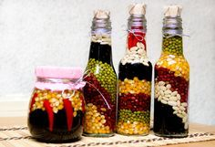 Decorative bottles on your kitchen counter brightens the look of your kitchen. You may have seen them at hotels and shows. Now even you can have one at your own place. It's one of the simplest and cheapest ways to decorate your kitchen....