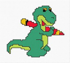 A small dragon (dragon. dinosaur, crayon drawings, game, for children)