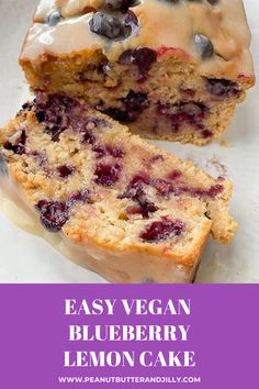 If you love the lemon cake at Starbucks, you're going to love this Easy Vegan Blueberry Lemon Cake with Vegan Cream Cheese Frosting! Vegan Blueberry Recipes, Blueberry Desserts, Lemon Desserts, Vegan Dessert Recipes, Lemon Recipes, Lemon Cakes, Vegan Blueberry Muffins, Coconut Cakes, Healthy Vegan Desserts