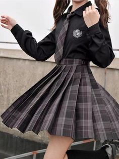 Cute Casual Outfits, Pretty Outfits, Cute Skirt Outfits, Beautiful Outfits, Mode Harry Potter, School Uniform Outfits, School Uniforms, Korean Uniform School, Japanese Uniform