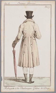 Costume Parisien an 1 (No. 607) Redingotte a la Charlemagne