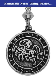 Handmade Norse Viking Warrior Horse Sleipnir Pewter Chain Pendant (with 22 inch Chain). The Viking God Odin has several Shamanic Spirit Guides which include the Valkyries, Odin's ravens and Odin's wolves all of which can probably be classified as Fylgjur supernatural beings which accompany one to their fate or fortune. One of the most magical is Odin's 8-legged horse, Sleipnir, the swiftest horse in the world is no ordinary horse: Having 8 legs his speed is greater than any other horse…