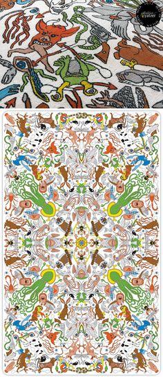 UNDERWORLD rug by Studio Job for Nodus. / BEST OF MILAN DESIGN WEEK 2013 / http://www.yatzer.com/best-of-milan-design-week-2013