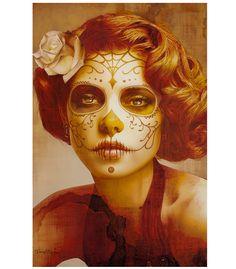 Vintage look for Dia de los Muertos