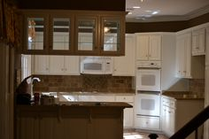 Before: dark kitchen, limited natural light