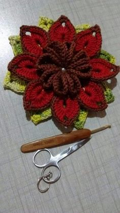 Top 15 imagens de flores feitas de crochê com gráficos Plaid Crochet, Crochet Art, Cute Crochet, Crochet Motif, Irish Crochet, Crochet Crafts, Crochet Doilies, Crochet Stitches, Crochet Projects
