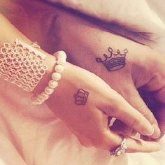Cute tattoo with a partner but not on the hand