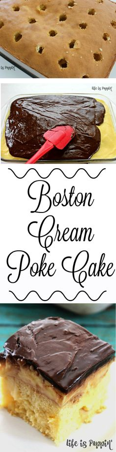 I have a serious weakness for cake, and this Boston Cream Poke Cake is right up my alley. This recipe is so easy to make and is like a little piece of heaven in each bite. Poke cakes are always a hit, but if you're anything like me than this one will be your favorite.