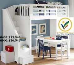 Bunk beds are great for siblings and sleepovers. Shop Pottery Barn Kids' bunk beds and loft beds for kids with functional and sturdy styles. Bunk Bed With Desk, Bunk Beds With Stairs, Cool Bunk Beds, Kids Bunk Beds, Loft Beds, Bed Stairs, Pottery Barn Kids, Big Girl Rooms, Boy Room