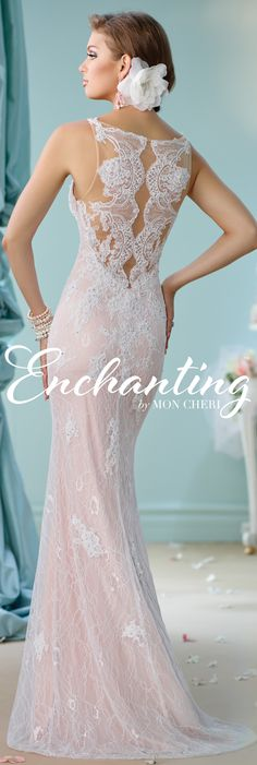 Enchanting by Mon Cheri Spring 2016 ~Style No. 116144 #laceweddingdress