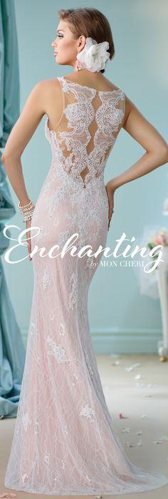 Enchanting by Mon Cheri Spring 2016 ~Style No. 116144 #laceweddingdress