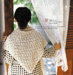 Sachiyo Fukao háromszögletű horgolt kendő Crochet Hats, Album, Books, Handmade, Fashion, Knitting Hats, Moda, Libros, Fashion Styles