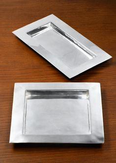 Polished Silver Trays