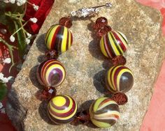 Fall Chunky Bracelet by bbcreations on Etsy, $15.00