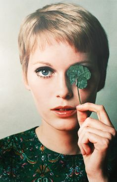 "Mia Farrow and her famous ""Rosemary's Baby"" haircut"