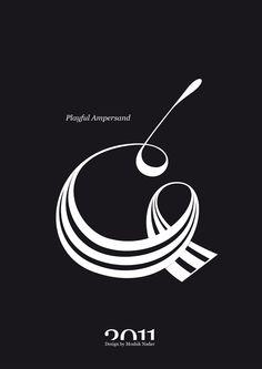 #Playful #Ampersand. #Moshik Nadav #Typography.        #ampersands #experimental #typography #typo #font #fonts #type #fashion #sleek #deep #hues #graphic #art #black #white