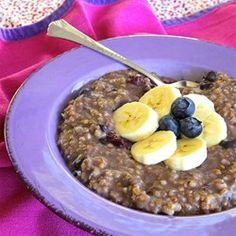 Blueberry and Banana Steel Cut Oats - Allrecipes.com