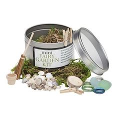 This sweet Mini Fairy Garden Kitwill inspire your child's imagination to create their first fairy house or fairy garden anywhere outdoors with these tiny acces