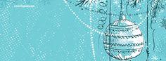 Blue Christmas Ball Ornament Facebook Cover CoverLayout.com