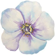Portfolio Canvas Decor Blue Bloom by Jean Plout Wrapped and Stretched Canvas Wall Art, Size: Small 18 inch-24 inch, Multicolor