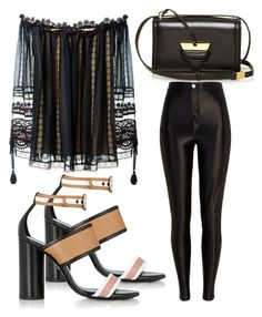 """Untitled #3218"" by evalentina92 ❤ liked on Polyvore featuring Chloé, Loewe, River Island and Lanvin"