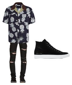 """""""Set#174"""" by anneclo2 on Polyvore featuring Yves Saint Laurent, Valentino, Common Projects, mens, men, men's wear, mens wear, male, mens clothing and mens fashion"""
