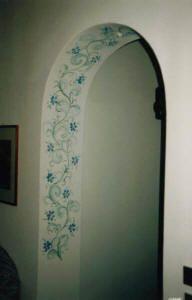 stenciled archway Decor, Stencils, Accent Wall, Home Improvement, Little Cottage, Stencils Wall, Home Decor, Cool Walls, Bathroom Decor