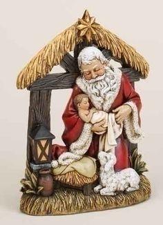 Santa at the Manger...