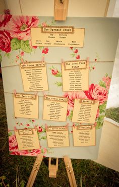 What a great seating plan A Country Vintage, Festival Inspired Wedding: Nichola & Jay · Rock n Roll Bride