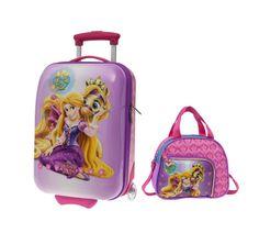 Rapunzel la princesa Disney nos trae su nueva maleta infantil, una maleta de viaje que hará las delicias de las niñas de la casa
