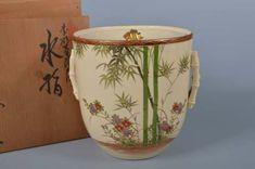 K4870-Japanese-Kiyomizu-ware-Mizusashi-FRESH-WATER-POT-auto-w-signed-box Fresh Water, Candle Holders, Jar, Japanese, Candles, Signs, Antiques, Decor, Antiquities